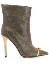 Marco De Vincenzo Iridescent Studded 100Mm Leather Boots 60