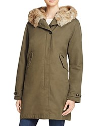 Woolrich John Rich And Bros Banff Eskimo Fur Trimmed Parka Military Olive