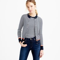 J.Crew Cotton Jackie Cardigan With Neon Tipping