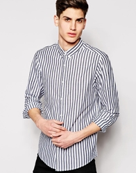Pull And Bear Pullandbear Stripe Shirt White
