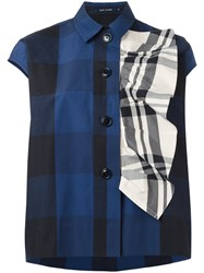 Sofie D'hoore Checked Shirt Blue