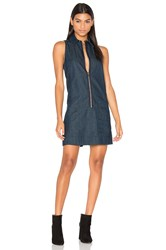 G Star Blake Zip Front Dress Blue