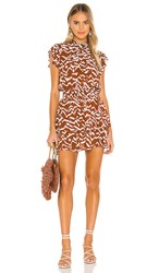 Cleobella Karina Mini Dress In Brown. Ginger