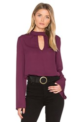 Band Of Gypsies High Neck Blouse Purple