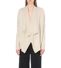 Vince Waterfall Lapel Wool And Cashmere Blend Cardigan Chalet