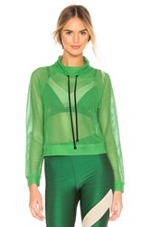 Koral Pump Open Mesh Pullover Green