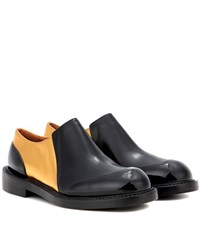 Marni Leather Slip On Loafers Black
