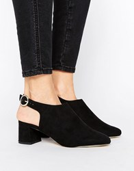 New Look Sling Back Block Heel Black