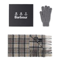 Barbour Scarf And Glove Gift Box Grey