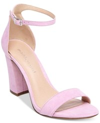Madden Girl Bella Two Piece Block Heel Sandals Lavender