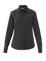 Lareida Anina Embellished Collar Shirt Black