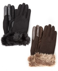 Isotoner Signature Isotoner Stretch Wool Long Faux Fur Cuffed Gloves