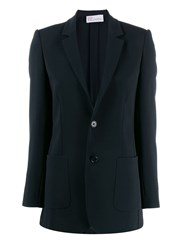 Red Valentino Classic Slim Fit Blazer Black