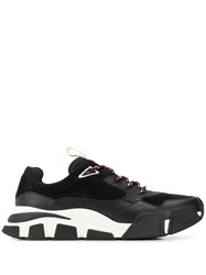 Salvatore Ferragamo Chunky Sole Sneakers Black