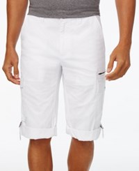 Inc International Concepts Men's Sway Messenger Shorts Only At Macy's White Pure