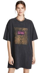 Anine Bing Harley Tee Dress Black