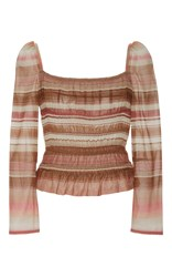 Brock Collection Voile Elasticized Taylor Top Stripe