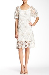 Voom By Joy Han Bijou Embroidered Dress Beige