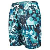 Speedo Tropical Print Leisure 18 Watershorts Black Blue