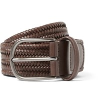 Andersons 3.5 Brown Woven Leather Belt Brown
