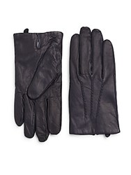 Gant Seamed Leather Gloves Evening Blue