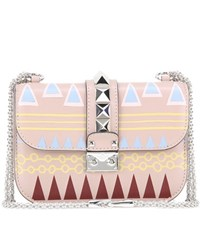 Valentino Ballet Russes Lock Small Leather Shoulder Bag Neutrals