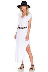 Lna Cap Sleeve V Neck Maxi Dress White