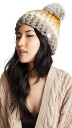 Mischa Lampert Stripe Beanie Hat Neutral Multi