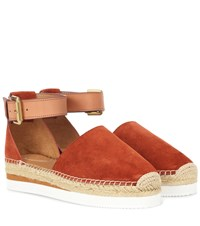 See By Chloe Glynn Suede Espadrilles Orange