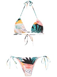 Brigitte Printed Triangle Bikini Set Multicolour
