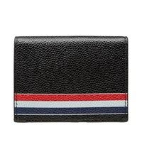 Thom Browne Painted Tricolour Double Card Holder Black