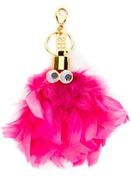 Sophie Hulme 'Dolly' Keyring Pink And Purple