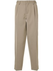 Kolor Tailored Fitted Trousers Brown