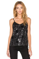 The Kooples Flock And Sequins Tank Black