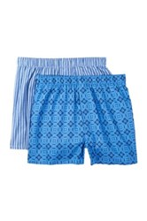14Th And Union Geo And Stripe Boxers Pack Of 2 Blue