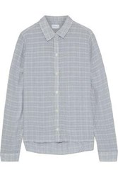 Current Elliott Woman The Pearl Checked Voile Shirt Storm Blue