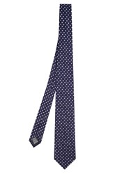 Dunhill Polka Dot Embroidered Tie Navy