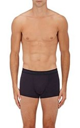 Zimmerli Men's Cotton Boxer Briefs Blue