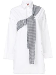 I'm Isola Marras Sleeve Tie Detail Shirt White