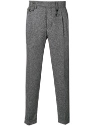 Manuel Ritz Woven Tailored Trousers Grey