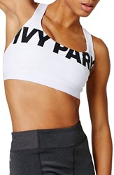 Women's Ivy Park Logo Sports Bra White