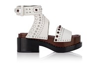 3.1 Phillip Lim Women's Nashville Studded Leather Platform Sandals White