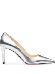 Prada Metallic Pumps Silver