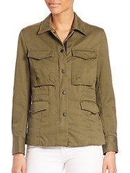 Rag And Bone Cotton Field Army Jacket Army Green