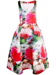Adam By Adam Lippes Flared Floral Print Dress Multicolour