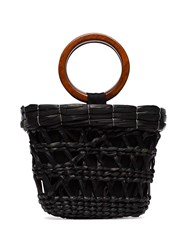 Sensi Studio Totora Straw Tote Bag Black