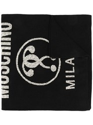 Moschino Double Question Mark Scarf Black