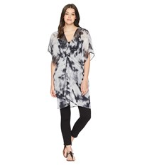 Betsey Johnson Knot Today Twist Front Poncho Black Clothing