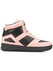Emporio Armani Colour Block Hi Top Sneakers Black