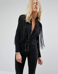 Bolongaro Trevor Unity Hand Beaded Cape Black